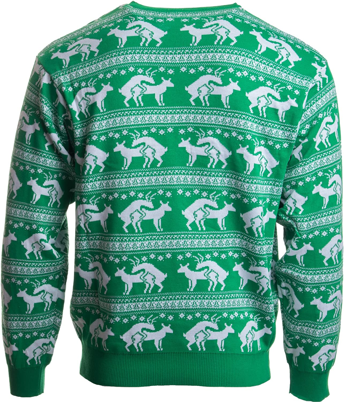 Amazon.com: Reindeer Humping Ugly Christmas Sweater w/ Holiday ...
