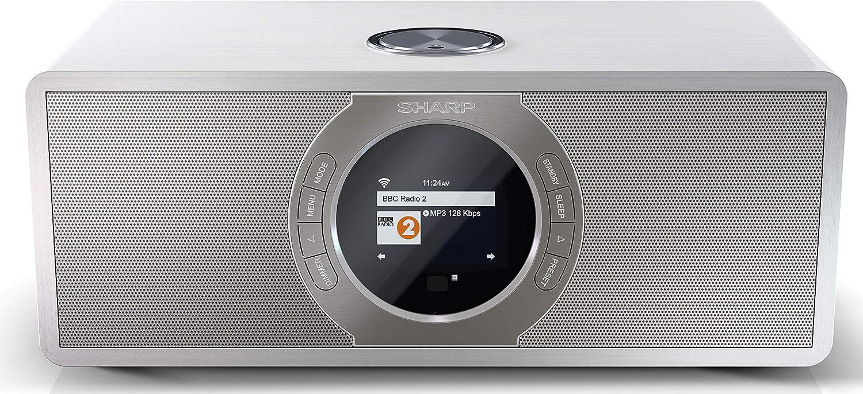 Sharp Dr I470 Stereo Internet Radio Dab Dab Digital Radio Wifi Streaming Bluetooth Dlna Fm Radio Alarm Sleep And Snooze Function 30 Watt Wooden Look White Home Cinema Tv Video