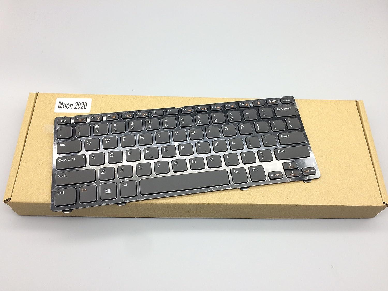 Without Backlight Keyboard for Dell Inspiron 14Z-5423 13Z-5323 / Vostro 3360 V3360 Black US Layout MP-11K53US6442W 05FCV3, 5FCV3, AER07U00010, AER07U00110, V128725BS1, 90.4UV07.S01