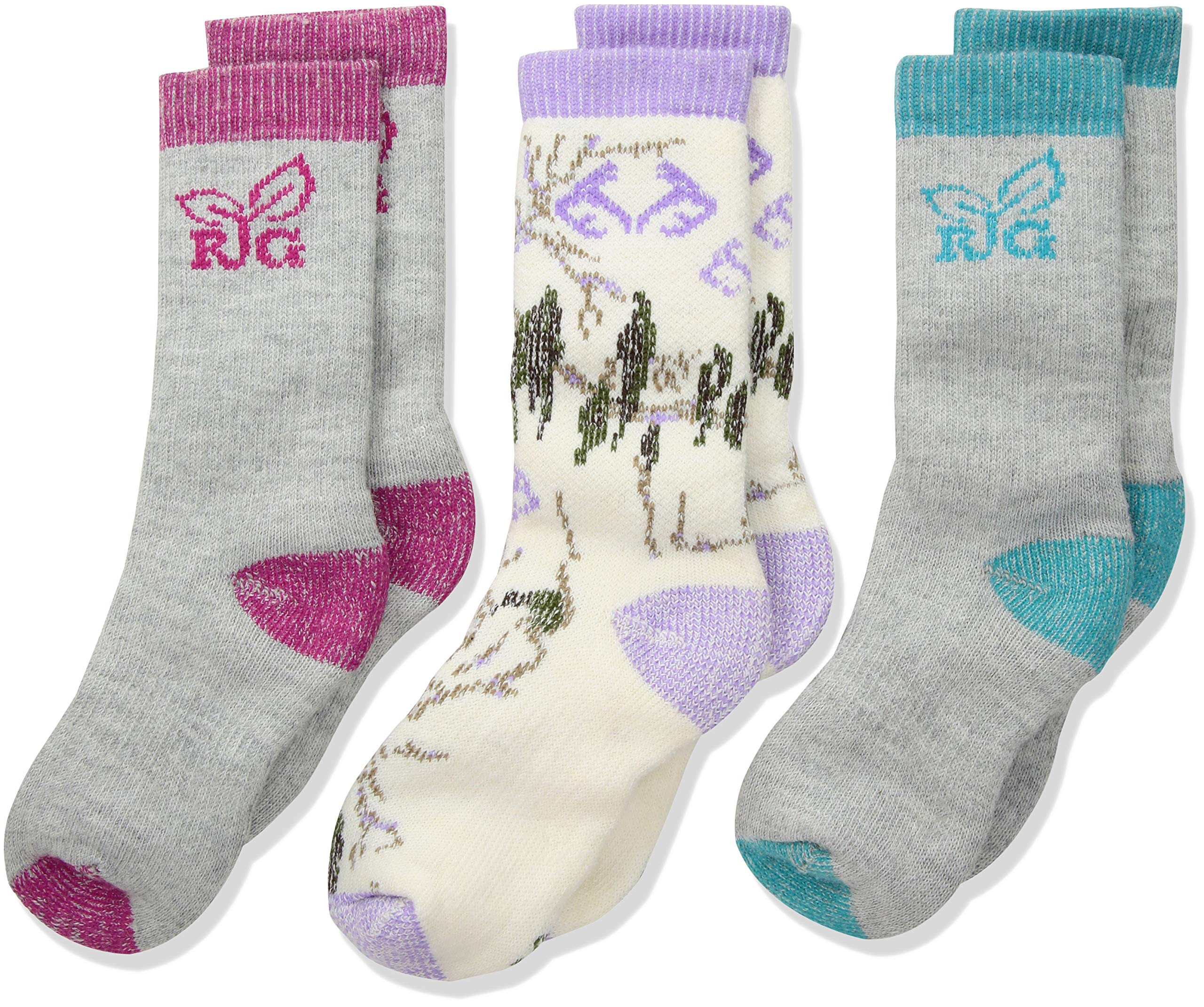 Realtree Girl's Mid Calf Socks Gift Box (3-Pair Pack) by Realtree