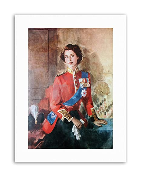 Amazon Com Wee Blue Coo Queen Elizabeth Ii England Painting