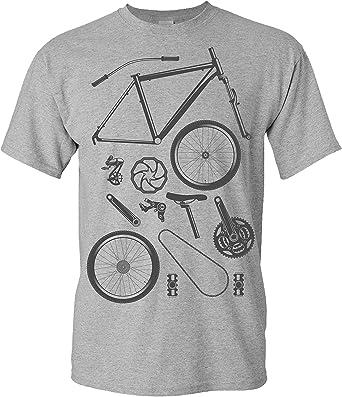 Camiseta de Bicileta: Piezas de Bici - Regalo para Ciclistas - BTT ...