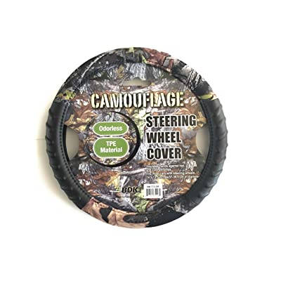 """Infinity Stock Camouflage 14.5""""-15.5"""" 100% Odorless TPE Material Steering Wheel Cover (Camouflage): Automotive"""