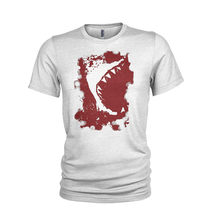Mens T-Shirt Red Great White Shark