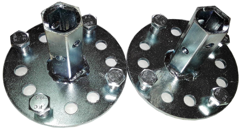 Bricoferr PT600041 Eje hexagonal de 23 mm para ruedas metálicas ...
