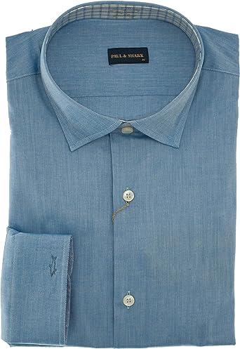PAUL & SHARK - Camisa casual - para hombre azul celeste 41 ...