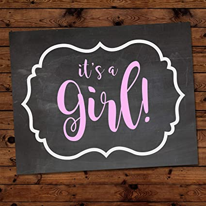 Amazon Com It S A Girl Gender Reveal Party Decoration For Baby