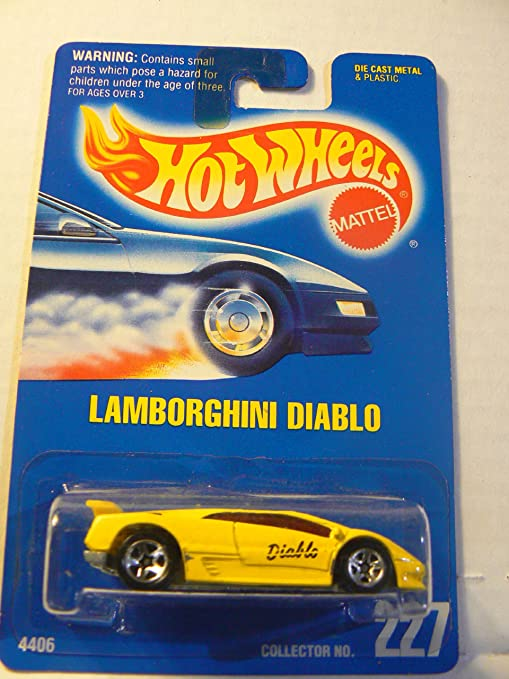 Amazon Com Hot Wheels 227 Lamborghini Diablo Yellow With 5 Spoke