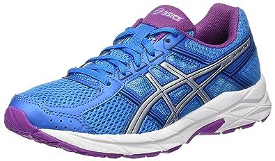 promo code 5f067 b54a4 ASICS Gel-Contend 4, Chaussures de Running Compétition Femme, Bleu (Diva  Blue
