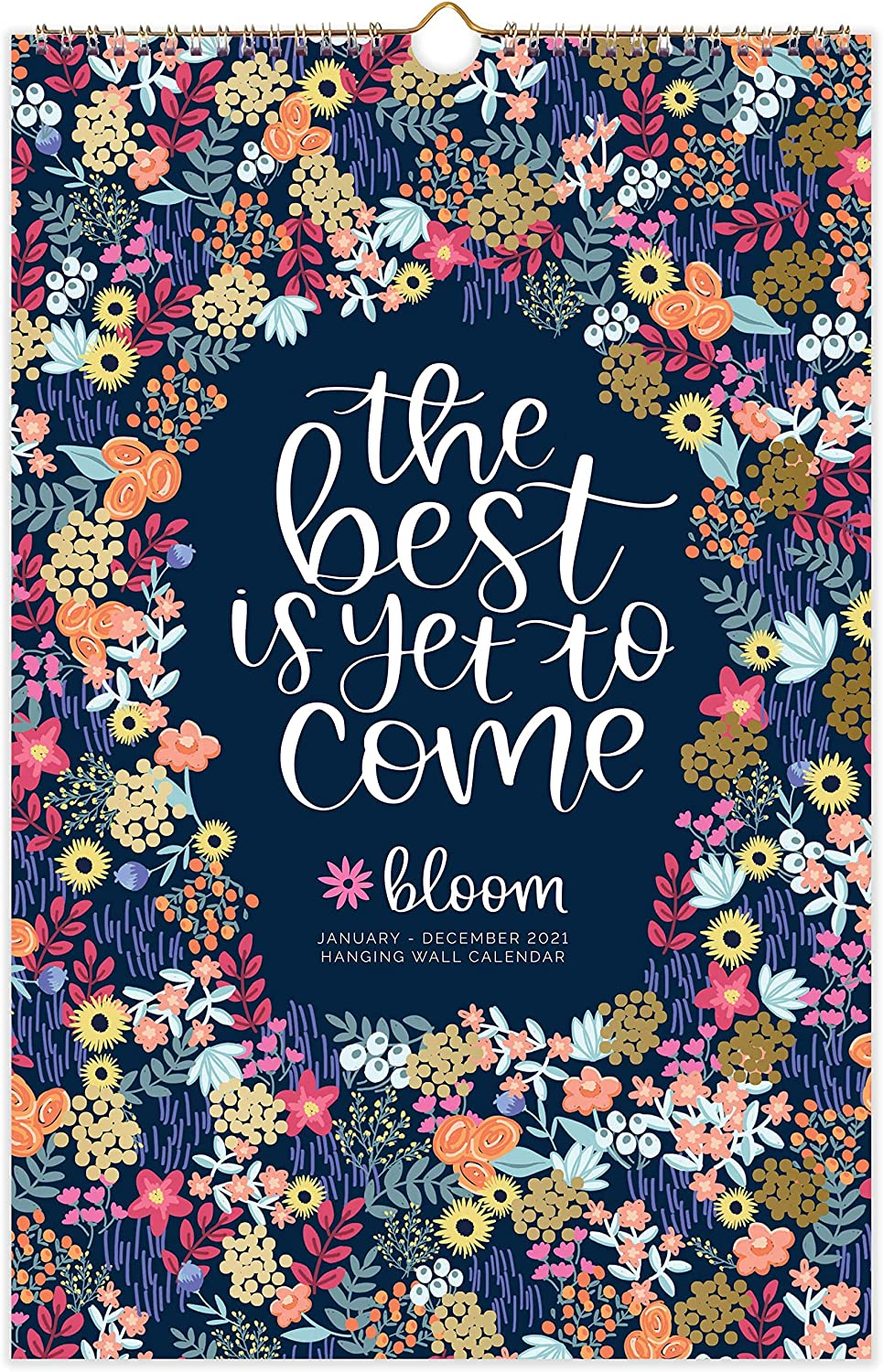 """bloom daily planners 2021 Calendar Year Monthly Hanging Wall Calendar (January 2021 through December 2021) - 11"""" x 17"""" - Hand-Lettered Quotes"""