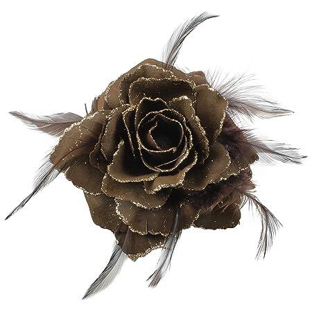 NEW Pretty Chiffon /& Metallic Gold Spot Flower Hair Clip 32 Colours UK Seller
