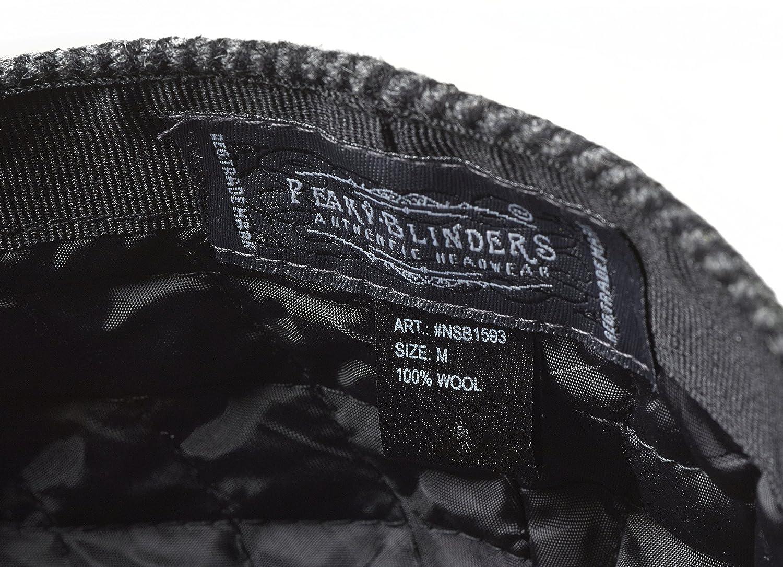 Peaky Blinders 8 Piece Newsboy Style Flat Cap -100/% Wool 57 cm Medium , Grey Herringbone