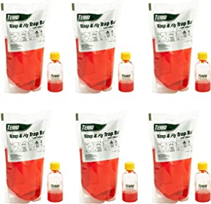 Terro T515 Wasp & Fly Trap Plus Fruit Fly – Refill-(6 Pack),Red