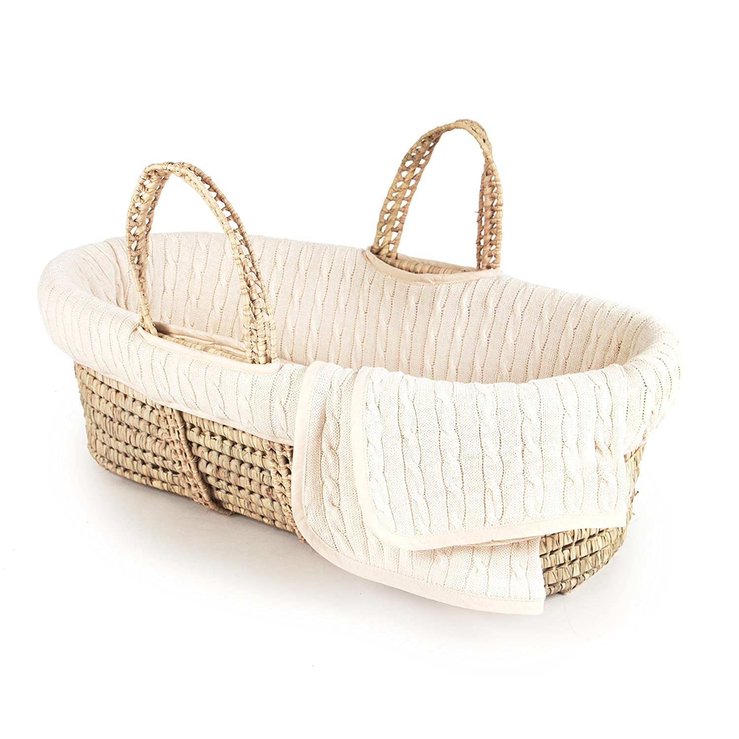 White Tadpoles Super Soft Sherpa Moses Basket Bedding Only