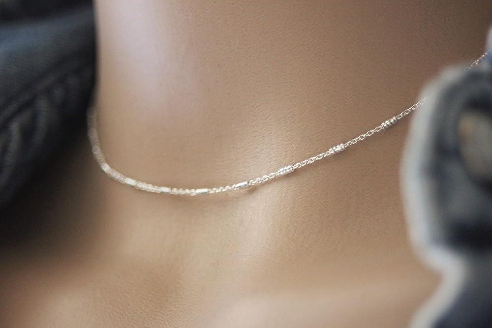 Apprêt extension chaînette 3,5 cm Argent Massif 925//1000 bracelet//Collier