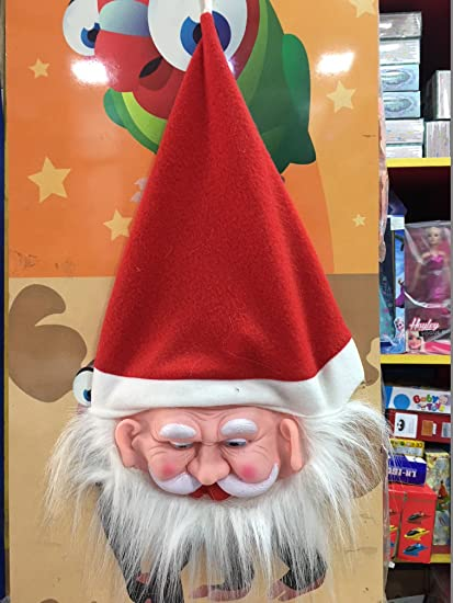 Buy om tech enterprises 3 to 8 Year Santa Claus Hat Christmas Party for  Kids Face Mask with Cap for Baby Boy Girl Free Size Online at Low Prices in  India ... e9e9dac18568