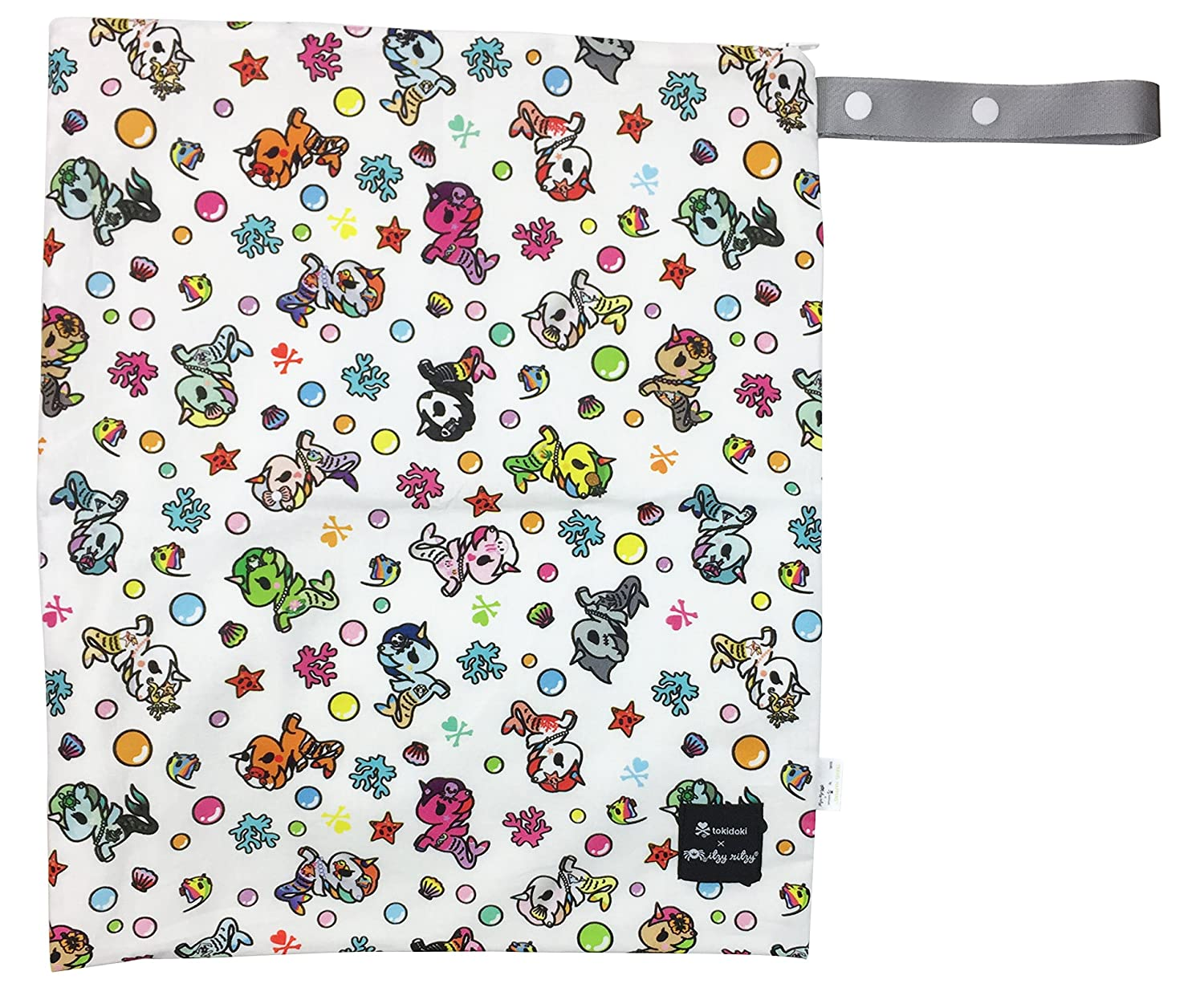 Itzy Ritzy Tokidoki Travel Happens Large Sealed Wet Bag, Underwater Adventure Itzy Ritzy Baby WBLH8144