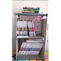 3-Shelf Bookcase Book Shelves Bookshelf Storage Bin Books Display Shelving Unit Organizer