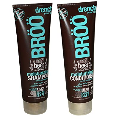 BROO Craft Beer Moisturizing Shampoo and Conditioner Hop Flower 100% natural Scent Color Safe and Vegan