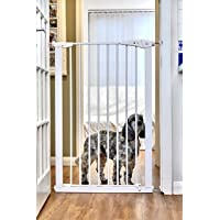 Callowesse Extra Tall Pet Gate 75–82 cm x 110 cm – Blanc
