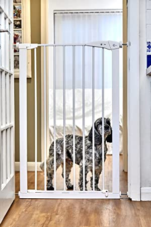 Callowesse Extra Tall Pet Gate 75 89cm X 110cm White 7cm
