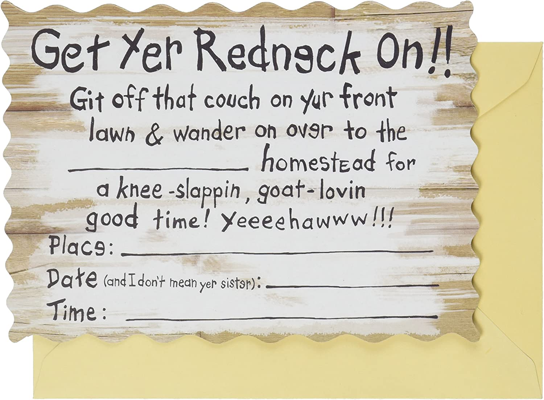 Redneck Invitations (envelopes included) (8/Pkg)
