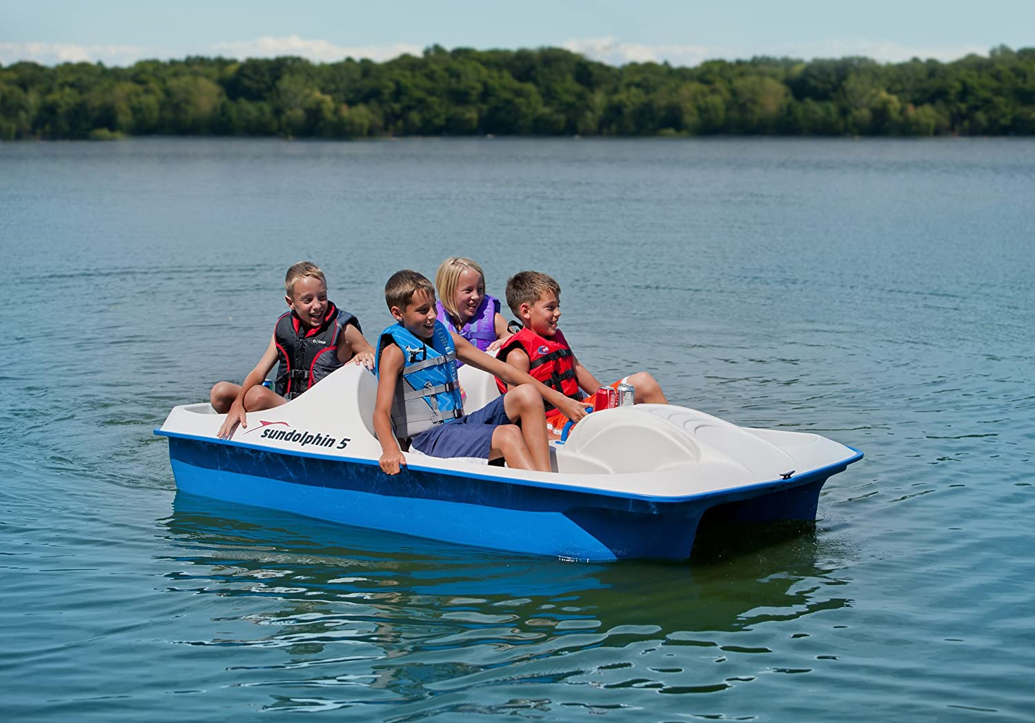 Amazon.com  Sun Dolphin 5 Seat Pedal Boat (Blue)  Kids Paddle Boat  Sports u0026 Outdoors & Amazon.com : Sun Dolphin 5 Seat Pedal Boat (Blue) : Kids Paddle ...