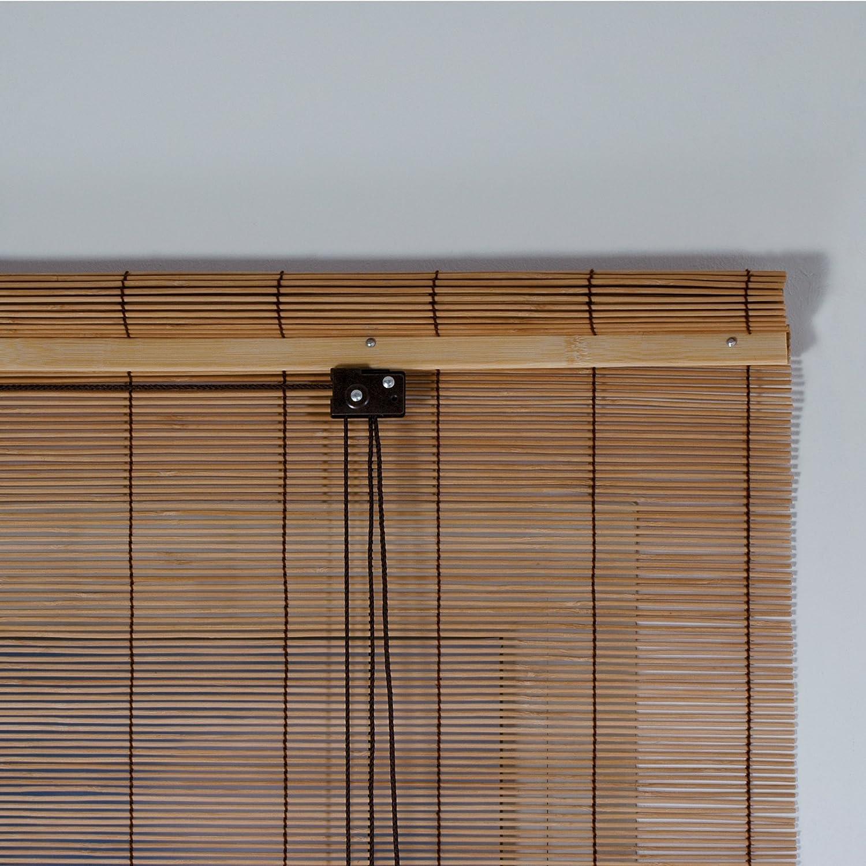 Amazon.de: Rollo Bambus mit Seitenzug, Bambusrollo für Fenster und ...