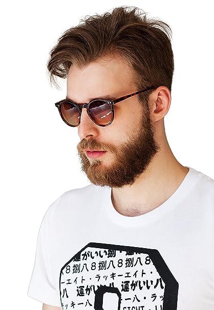6b2e886ff58 Amazon.com  Sunglasses in Tort Round Frames – Classic Oxford Style ...
