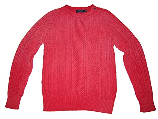 RALPH LAUREN Polo Mens Weathered Nautical Cable Knit Seafarer ...