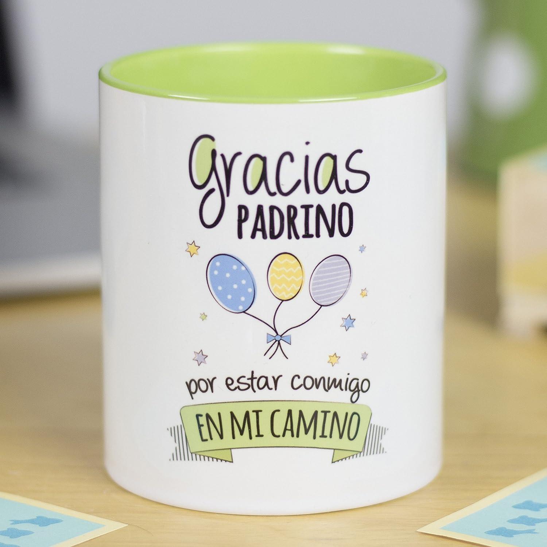La Mente es Maravillosa - Taza con Frase y dibujo divertido (Gracias padrino por estar conmigo en mi camino) Taza Regalo Padrino