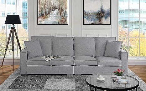 Amazon.com: Sofá de tela de lino extragrande para sala de ...