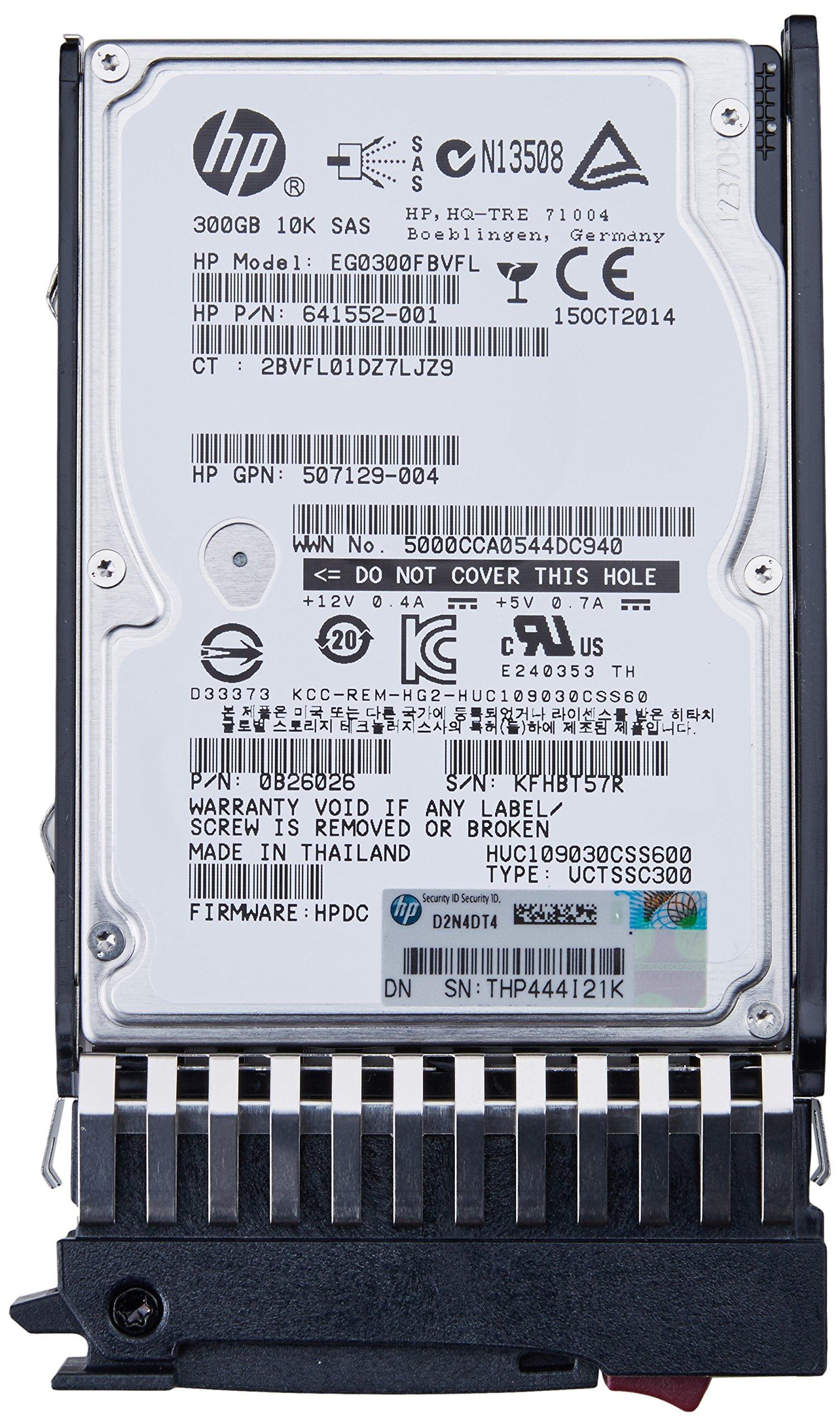 HP 300GB 6G SAS 10K SFF (2.5-inch) Dual Port Enterprise Hard Drive 507127-B21 by HP (Image #2)