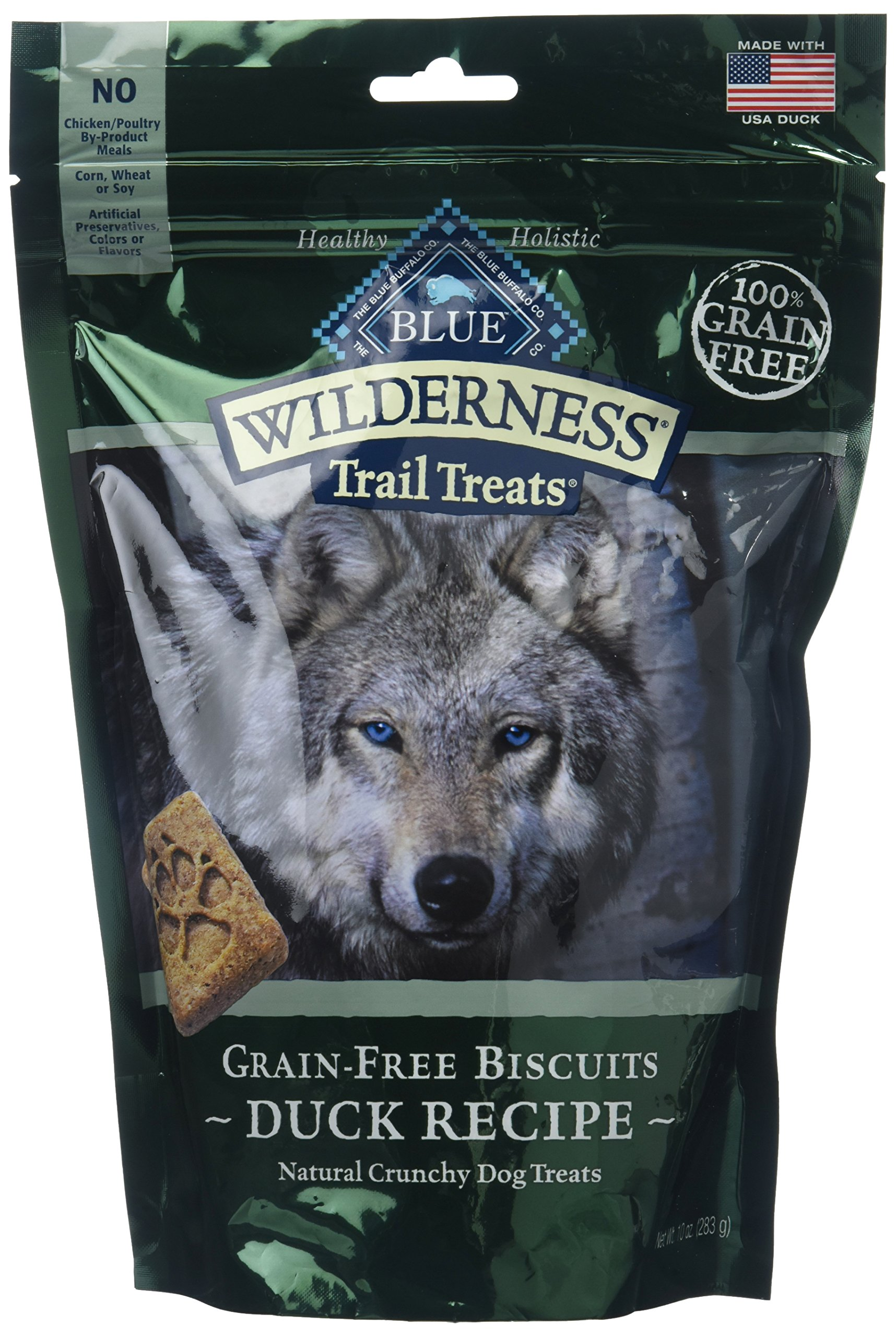 Blue Buffalo Wilderness Trail Treats Grain Free Duck Dog Biscuits 2/10ounce by Blue Buffalo