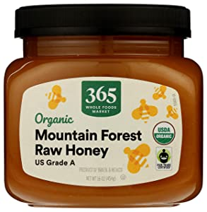 365 by Whole Foods Market, Organic US Grade A Raw Honey, Mountain Forest, 16 Ounce