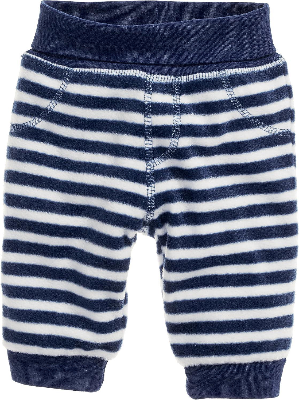 Schnizler Unisex Baby Hose Fleecehose mit Strickbund Maritim