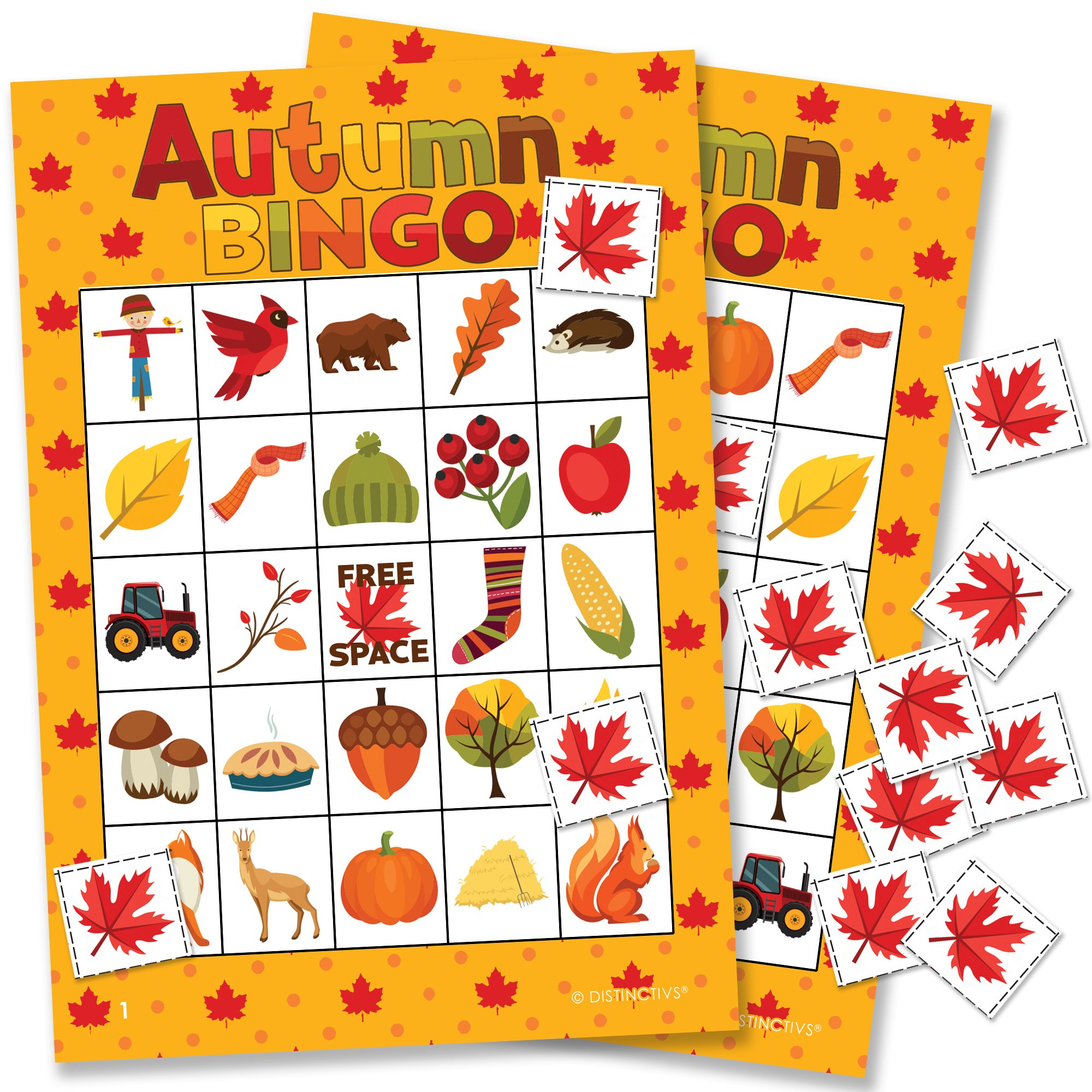 Autumn Fall Festival Bingo Game - 24 Players by DISTINCTIVS