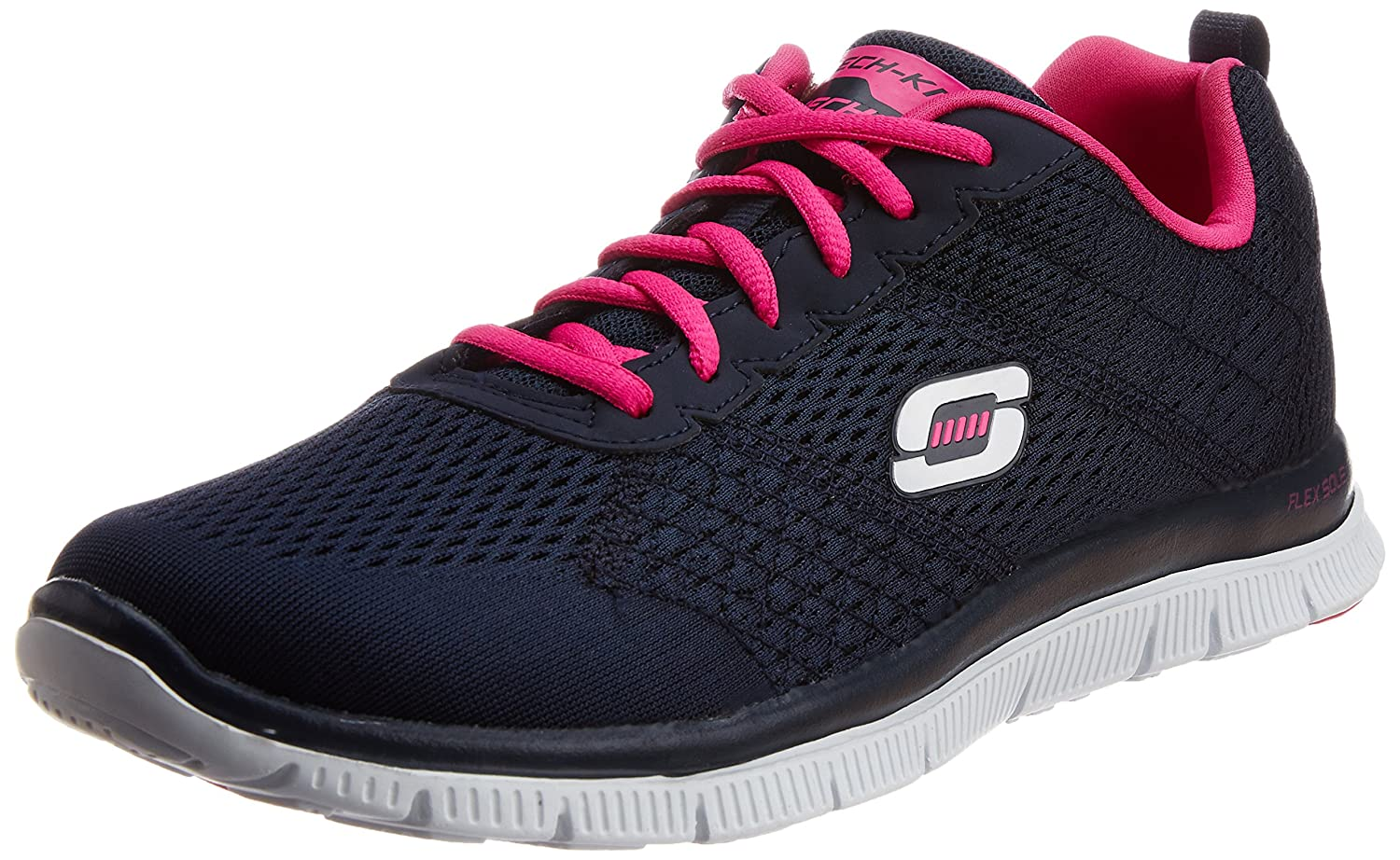 Skechers Sport Women's Obvious Choice Fashion Sneaker B01JPGKLHQ 6.5 C/D US Women|Navy/Pink