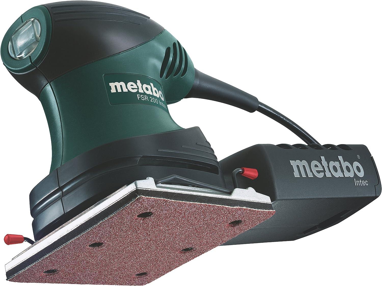 Zubehör im Kuststoffkoffer Metabo Exzenterschleifer FSX 200 Intec inkl