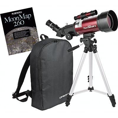 Orion 10034 GoScope II 70mm Refractor Travel Telescope Moon Kit (Burgundy): Camera & Photo