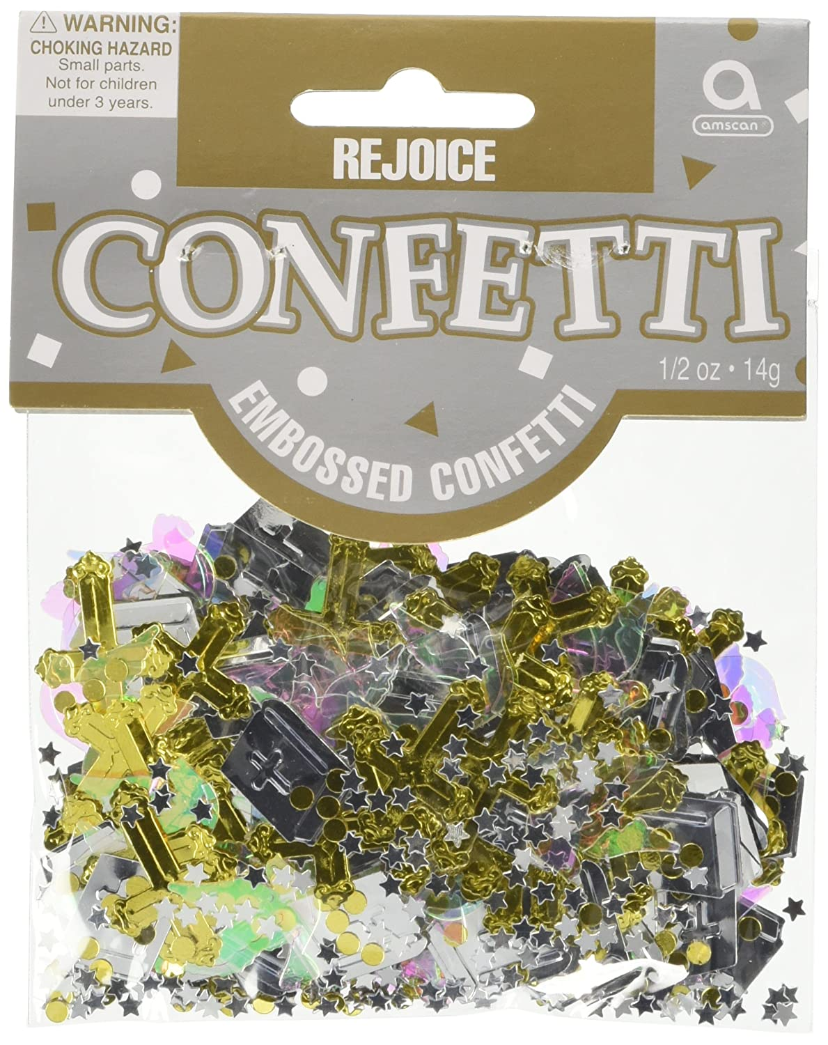 Amscan International Confetti Rejoice Metallic by Amscan   B004IRTVLU