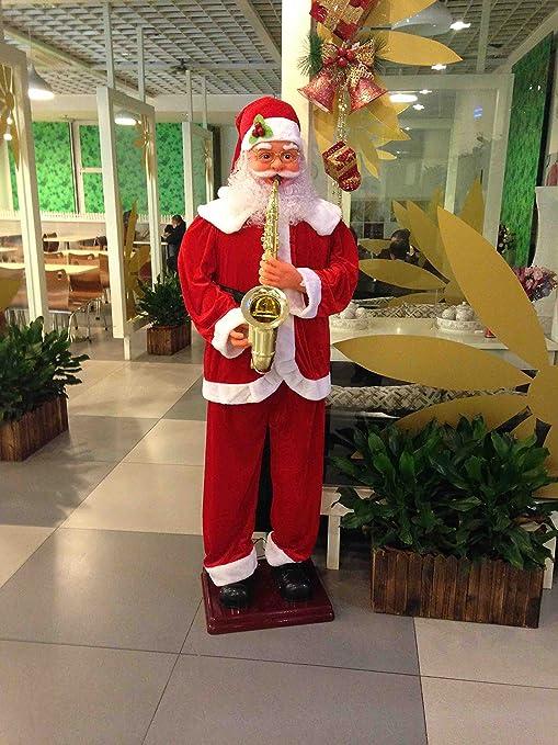 Buy 4 Feet Musical Santa Claus Playing Saxophone Music
