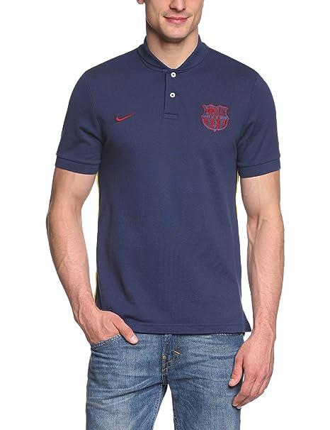 Nike F.C. Barcelona - Polo de manga corta, Azul (Midnight navy), L ...