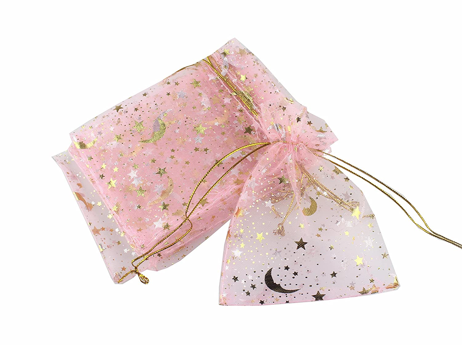 Amazon.com: QIANHAILIZZ 100 Moon Star - Bolsa de organza ...