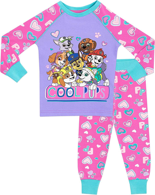 CHILDRENS GIRLS PAW PATROL Pjs Pigiama Pigiama Abbigliamento da Notte Nightwear Regalo