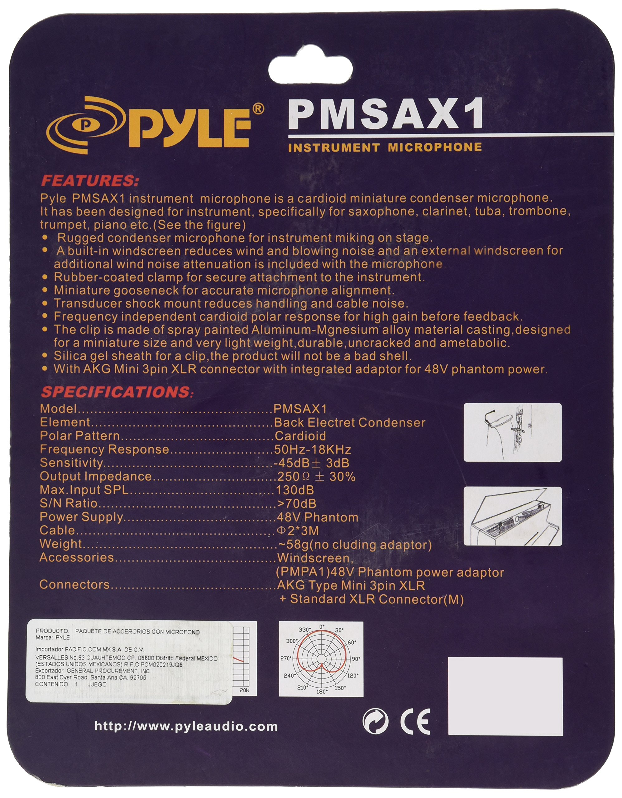 Pyle-Pro PMSAX1 Instrument/Saxaphone XLR Condenser Microphone by Pyle
