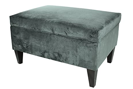 MJL Furniture Designs Brooklyn Collection Large Upholstered Living Room  Lift Top Storage Ottoman, Mystere Series