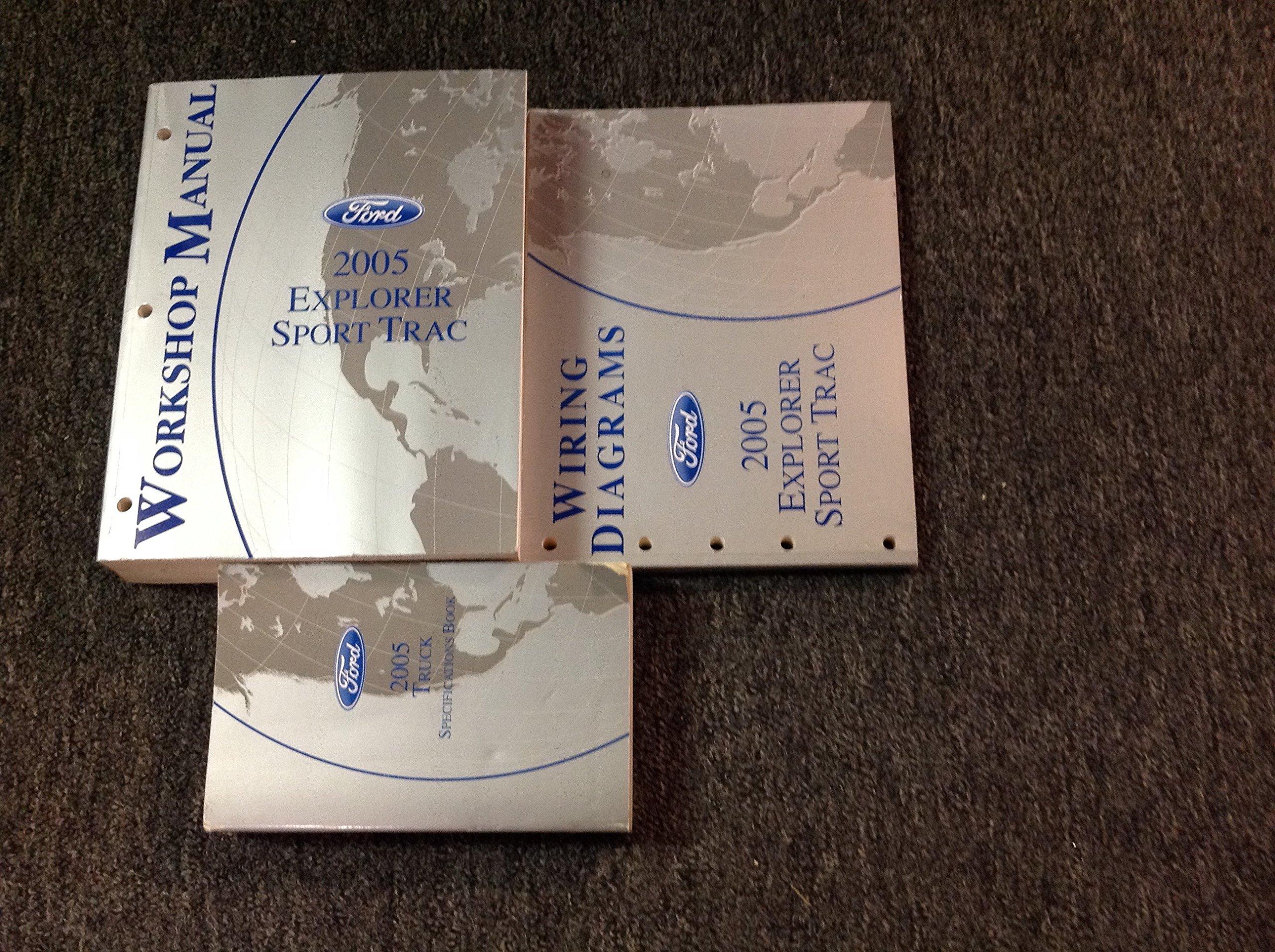 2005 Ford Explorer Sport Trac Service Shop Manual Set Amazon Wiring Diagrams Books