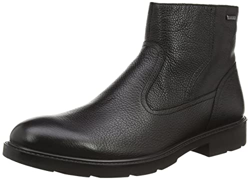 Geox Men's U Rubbiano B Abx H Ankle Boot, Black, 44 EU/11