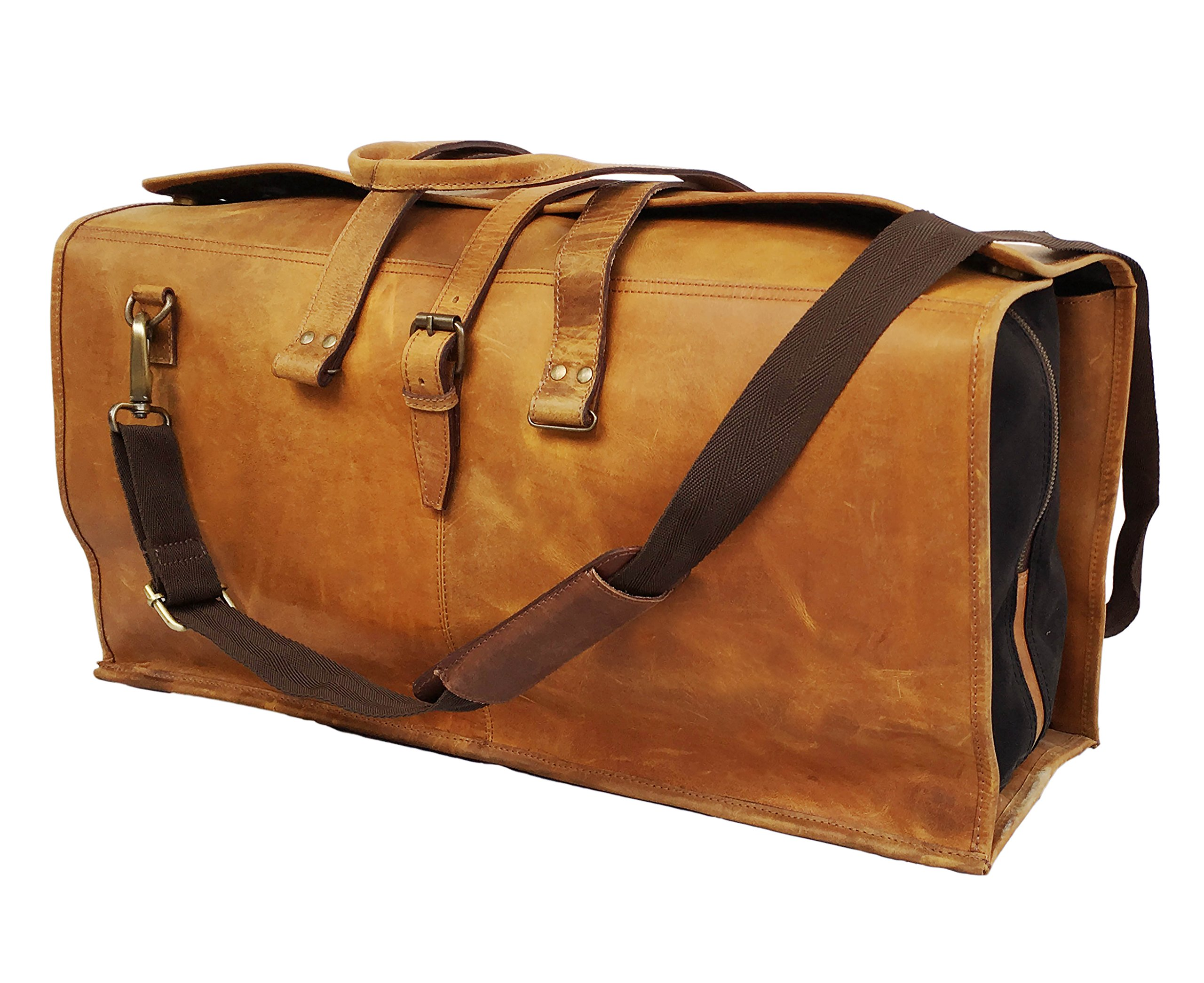 24 Inch Leather Duffel Bags Leather Luggage Canvas Bags Leather Travel Bags  Leather Holdall Leather Canvas Bags 493ac97eb64f9
